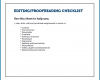 Free Printable Proofreading Checklist Template