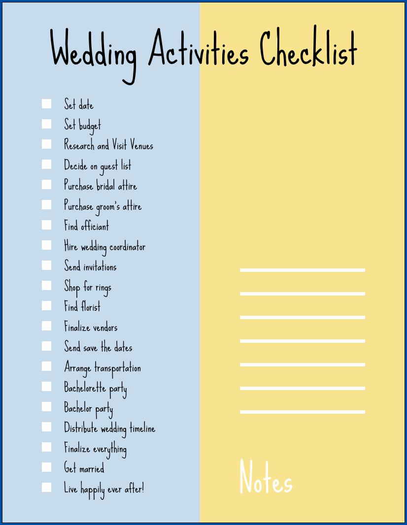 Checklist Templates Sample