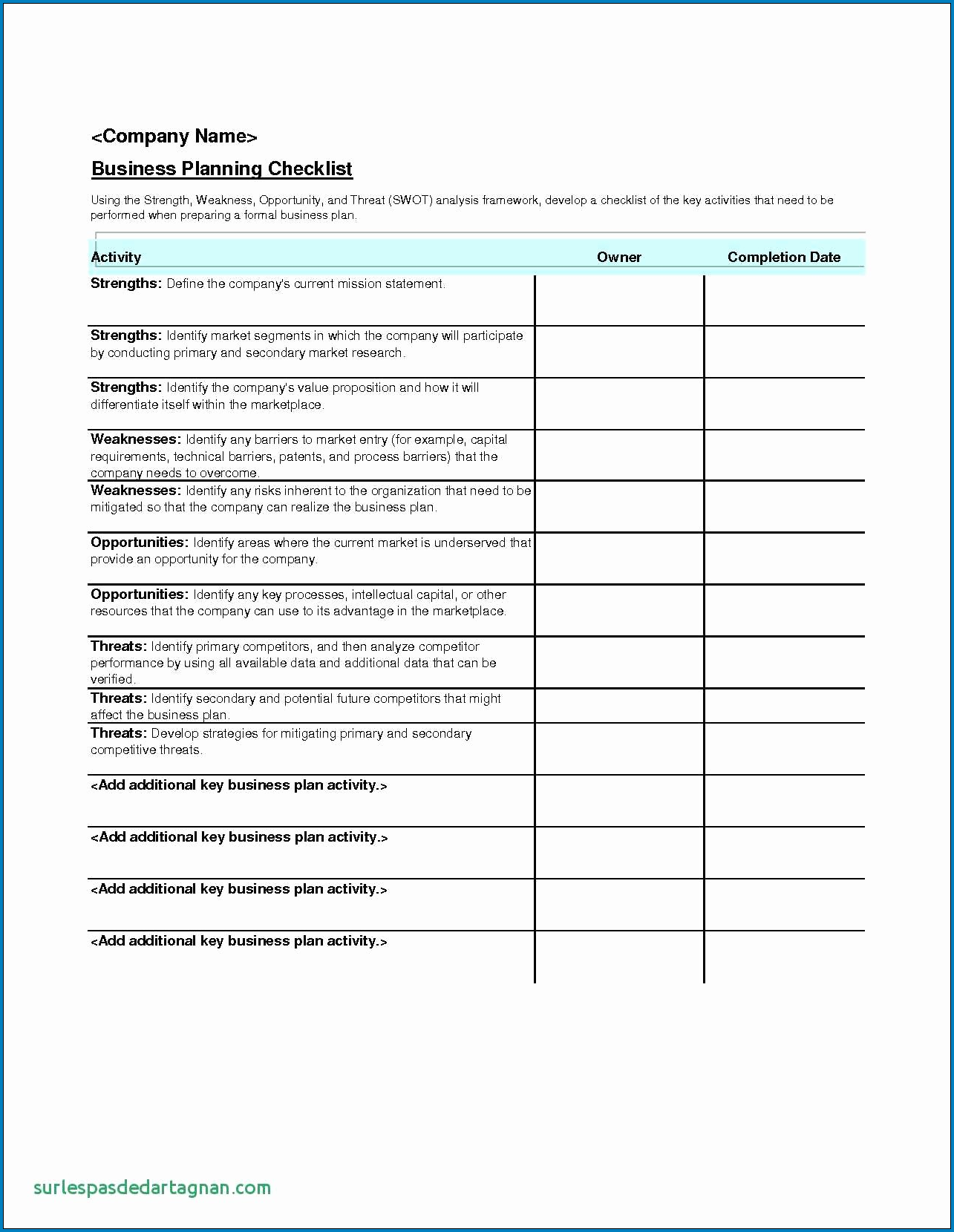 Corporate Event Planning Checklist Template Example