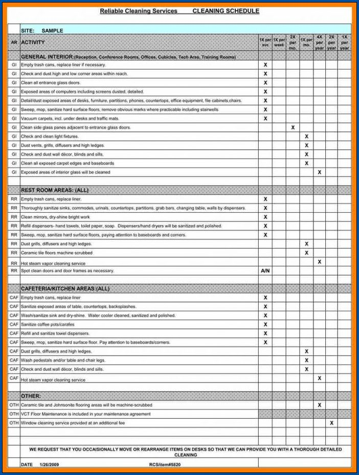 Equipment Preventive Maintenance Checklist Template Example