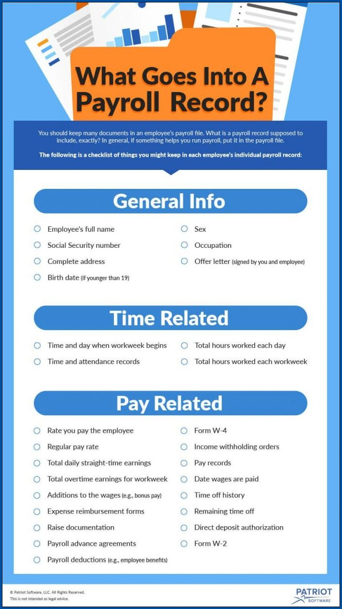 Example of Payroll Checklist Template