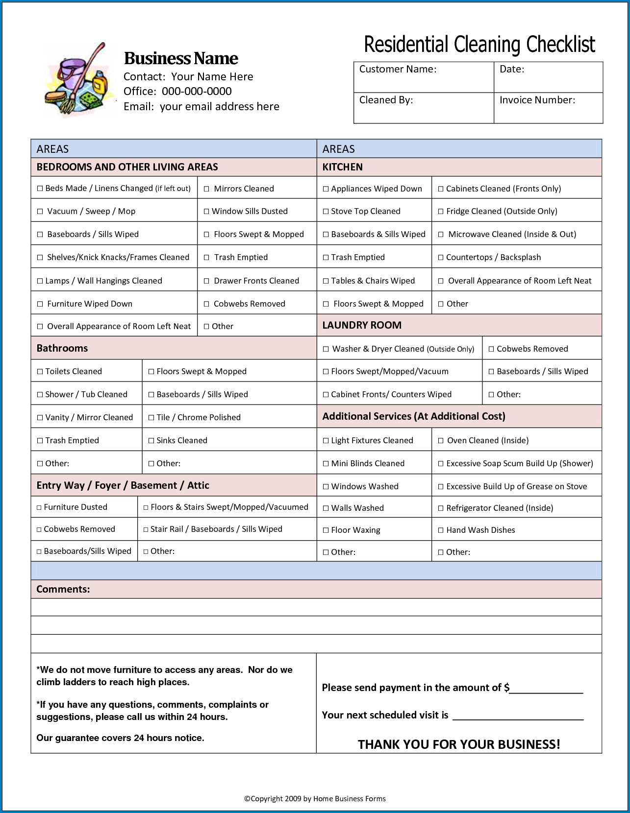 Medical Office Cleaning Checklist Template Sample