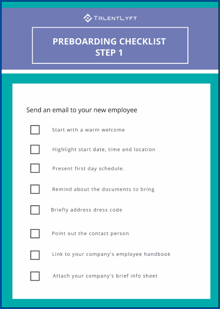 Onboarding Process Checklist Template Example