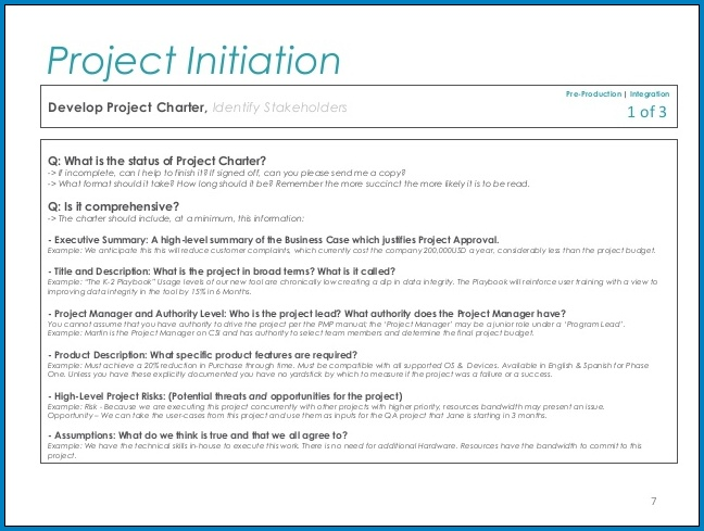 Project Initiation Checklist Template Sample