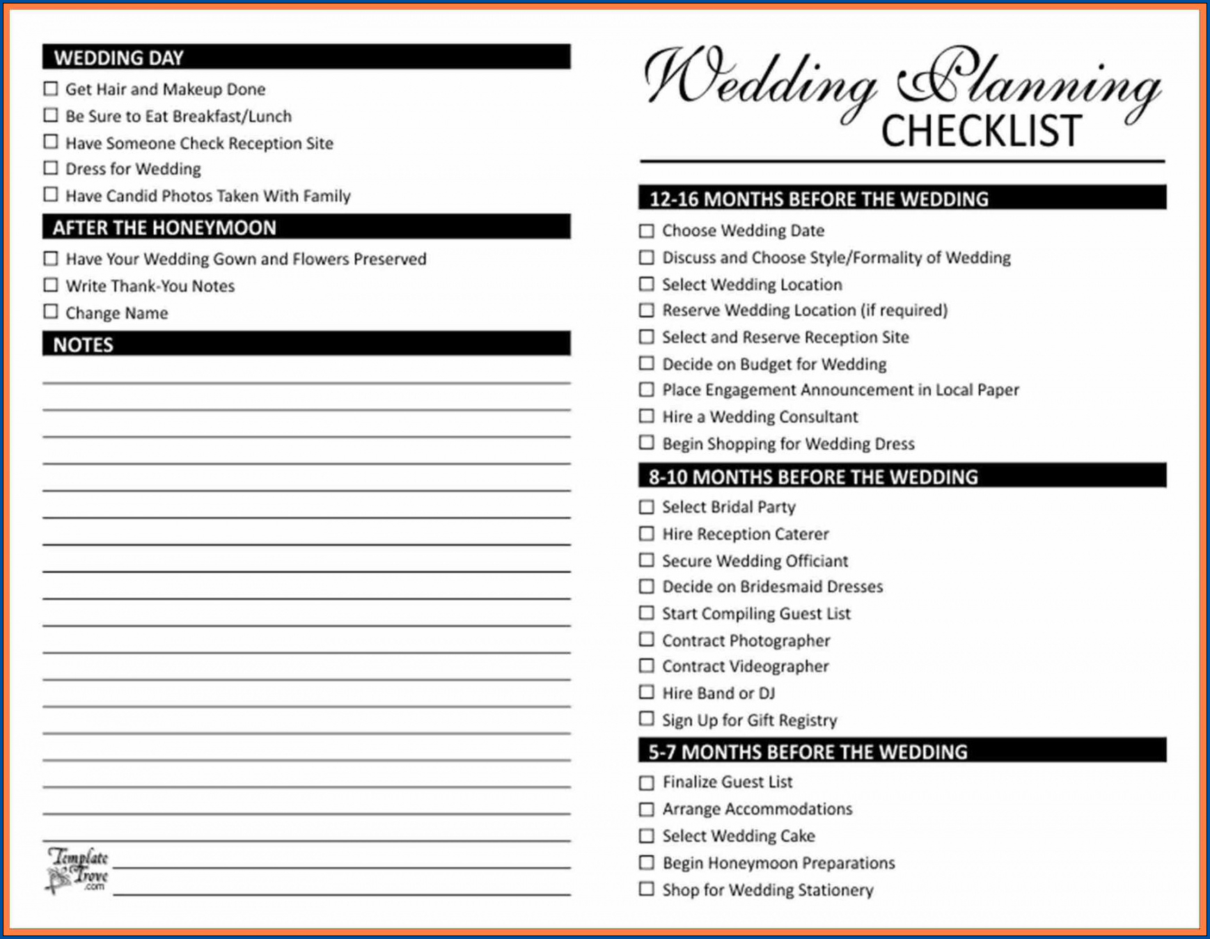 Wedding List To Do Template from www.checklist.templateral.com